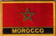 Morocco Embroidered Flag Patch, style 09.